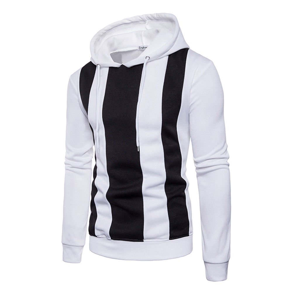 Zhhlinyuan Mens Sport Winter Pullover Slim Hoodie Sweatshirt Christmas Gift