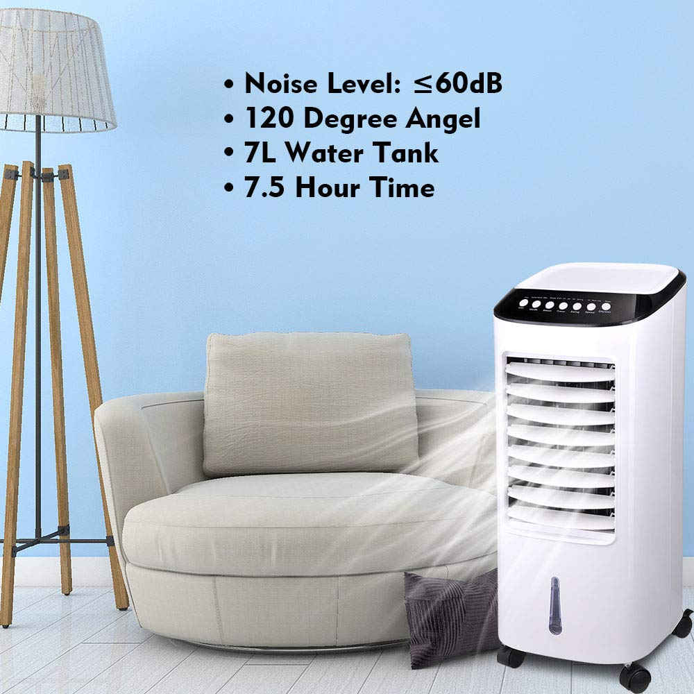 Amazon.com: Yeshom 65W Evaporative Air Cooler Energy Saving Fan Humidifier with Remote Control Ice Boxes Indoor Home Office Dorms: Home & Kitchen