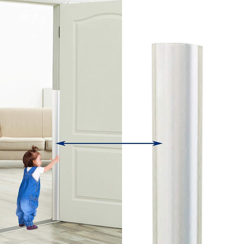 (2-PCS) Happlife Finger Pinch Door Guard - Door Protector for Kids - Baby Finger Pinch Guard Door Stopper - Shield for 90 & Probably 180 Degree Doors (Set) - Guard for Door Finger Child Safety.