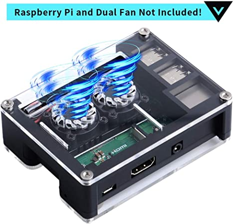 GeeekPi Caja para Raspberry Pi 3 B + y Raspberry Pi 3/2 Modelo B, también para Raspberry Pi Ventilador Doble Ventilador de Doble enfriamiento: Amazon.es: Electrónica