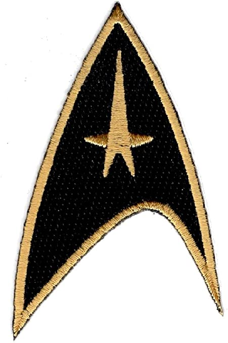 Star Trek Original Command Gold Foil Iron On Patch Set of 3 Patches