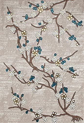 6055 Branches Beige 5'2×7'2 Area Rug Carpet Large New