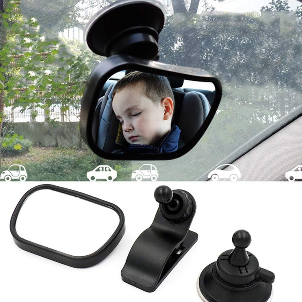 Noir Miroir de Voiture pour B/éb/é R/étroviseur de Surveillance Rotation 360/°/& Fonction dInclinaison Bainuojia B/éb/é Vue Arri/ère Miroir