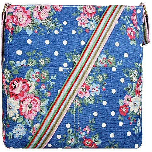 Miss Lulu Canvas Square Bag Horse Pattern Shoulder Bag (1104F Navy)