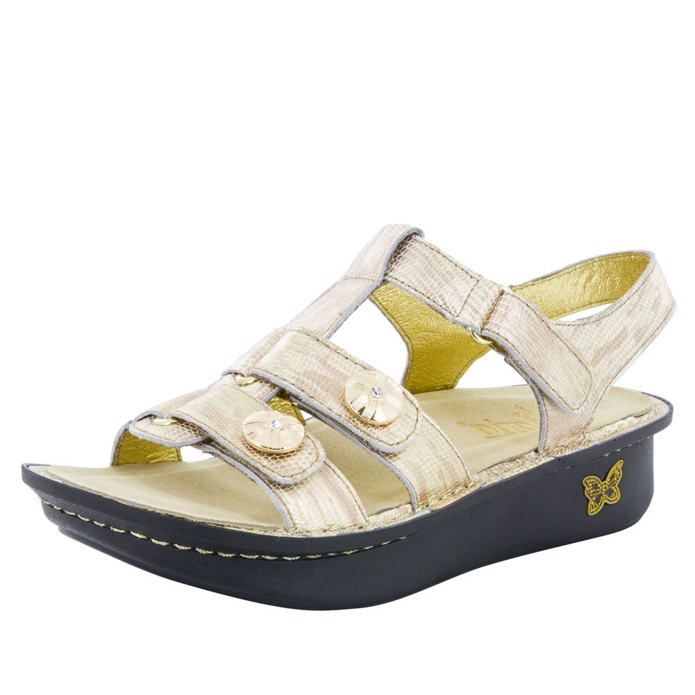 gold Your Own Way Alegria Women's Debra Sandal