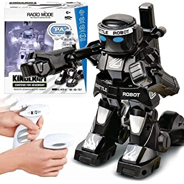 Detailorpin Battle RC Robot 2.4G Body Sense Remote Control Robot Model Kids Toy