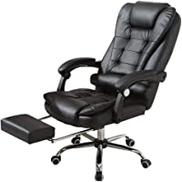 Alovemo Leather Desk Gaming Office Chair with Function Adjust Seat Height, 360 Degree Free Rotation Pulley (2019)