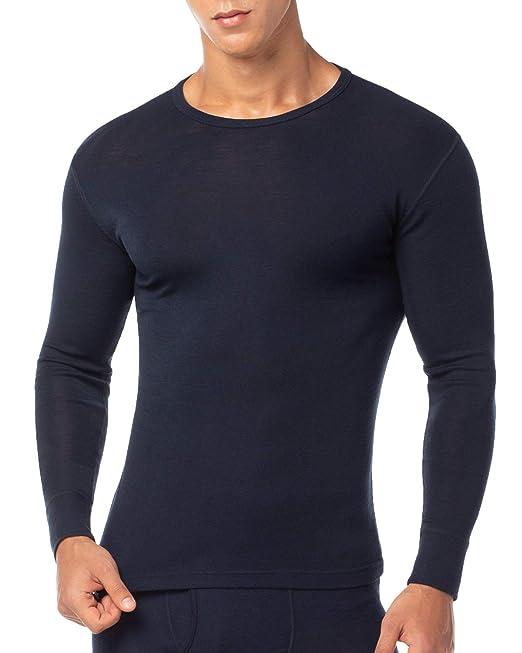 LAPASA Ropa Térmica para Hombre Pantalón/Camiseta/Conjunto de Lana Merino M31 (S