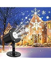 YAZEKY Sneeuwvlok Projector Lichten Sneeuwval LED Light Verstelbare Lamp, IP65 Waterdicht Sneeuwwitje Decoratie Spotlights Voor Outdoor Indoor Night Light Voor de Kerst Holiday Party Garden