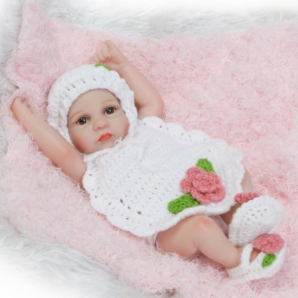 GHCX Silikon-Simulation Reborn Puppe Puppe Puppe Süße Mädchen Kann Das Wasser Spielzeug Kinder Kreative Geburtstagsgeschenk 26CM 29f1d9