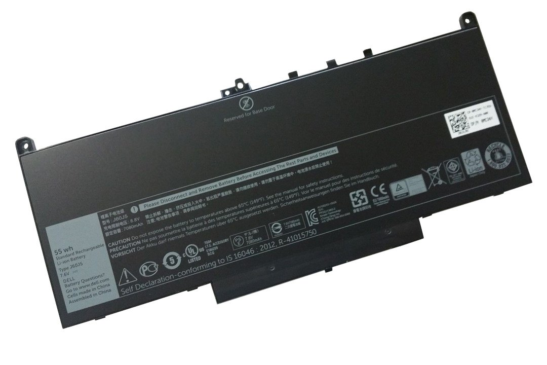 United Power Replacement Dell Latitude E7470 Laptop Battery - 7.6V 55Wh 4 Cell Battery Pack