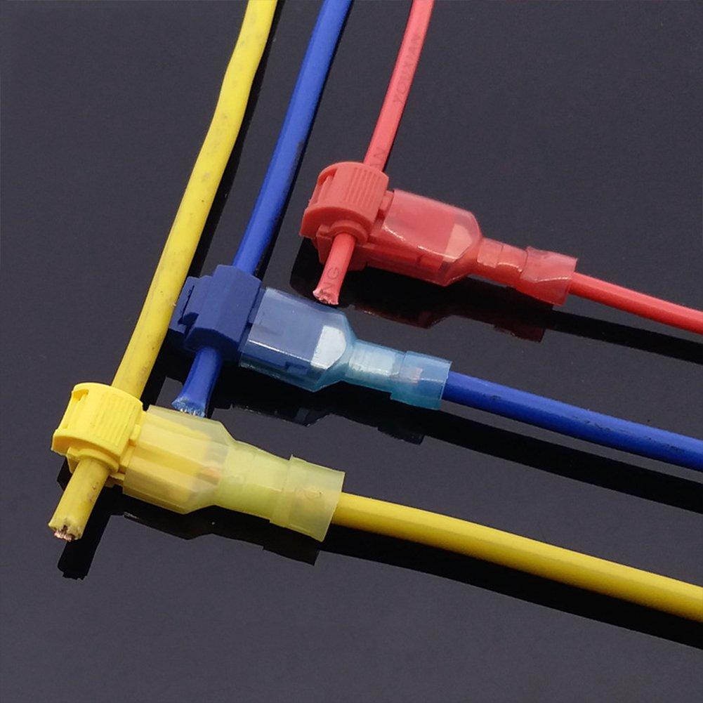 120/Elektrische Terminals Tap in zudr/ücken Schnell Splice Self-Stripping mit Nylon vollisoliert Stecker Schnell Trennt GEZICHTA T-Tap-Draht Stecker Kit