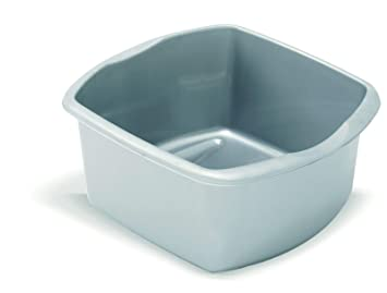 f8957a1f9110 Image Unavailable. Image not available for. Colour: Addis 8 Litre Small  Rectangular Bowl, Metallic Silver