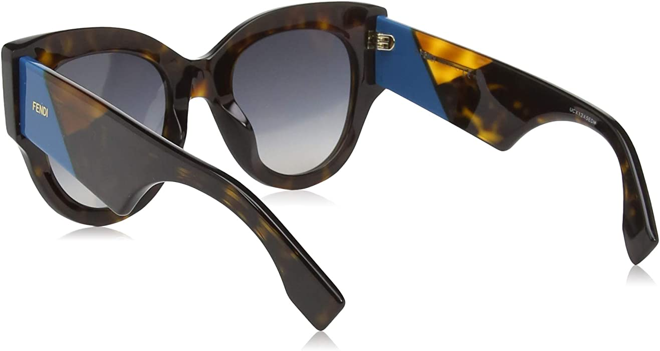 dce68499fb8c Facets Chunky Cateye Sunglasses in Dark Havana FF 0264 S 086 51. Back.  Double-tap to zoom