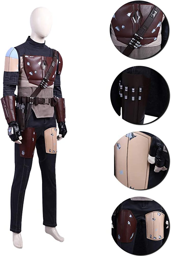 Details about  /Star Wars The Mandalorian Cosplay Costume Uniform Halloween Outfit Full Set