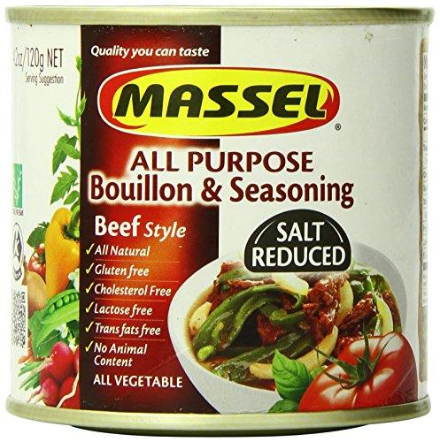 Massel Gluten-Free, Salt Reduced All Purpose Bouillon & Seasoning Granules, Beef Style, 4.2-Ounce (Pack of 6)