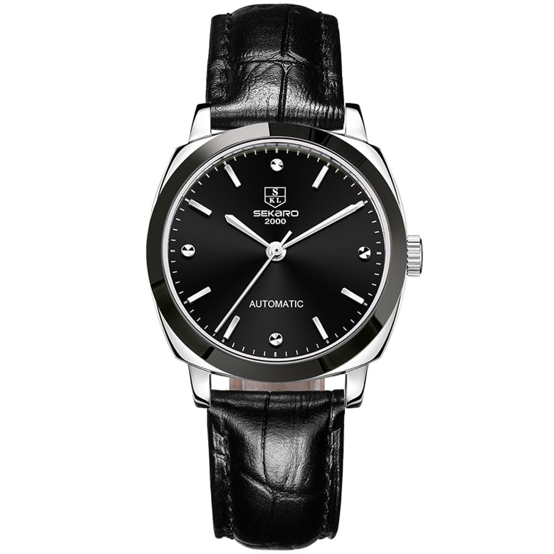 Automatische mechanische Uhren- Mode Damen Armbanduhr wasserdicht- einfach und lÄssig Uhren-F