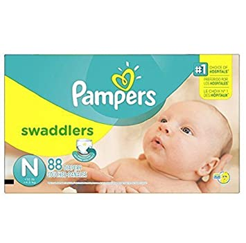 Pampers softest diaper ever ,Color-changing wetness indicator,Swaddlers Diapers Size N Super