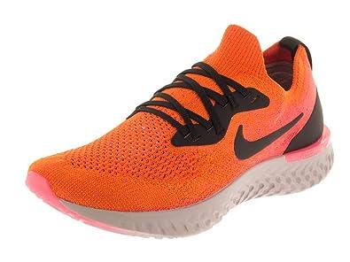 new style 1345d acedf Nike Kids Epic React Flyknit (GS) Copper Flash Black Running Shoe 4 Kids