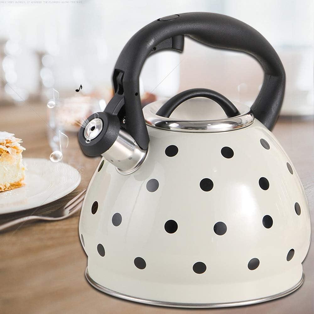 ZDY Bollitore Acciaio Inox,Veloce Bollire Bollitore a Fischio Tea Kettle Brocca, Senza BPA, 3L (Color : White) Red