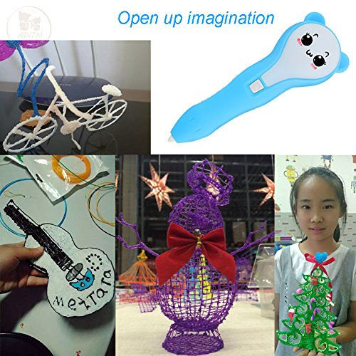 New Expression Three-Dimensional Creative Brush Christmas Children's Toys 3D Printers Low-temperature Charging 3D Printing Pen by ADI7N (Image #6)