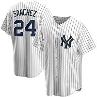 GMRZ Camiseta MLB Hombre, Beisbol Jersey con New York Yankees # 2# 24 Diseño Logo Ropa Deportiva Equipo De Béisbol De…