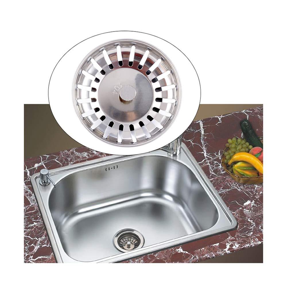 Kitchen-Dishwash-Basin-Drain-Dopant-Sink-Waste-Strainer-Basket-Leach-Plug-Steel