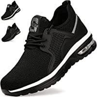 Zapatos de Seguridad Hombre Mujer Zapatillas de Trabajo con Punta de Acero Ligeras Transpirables Calzado de Seguridad…