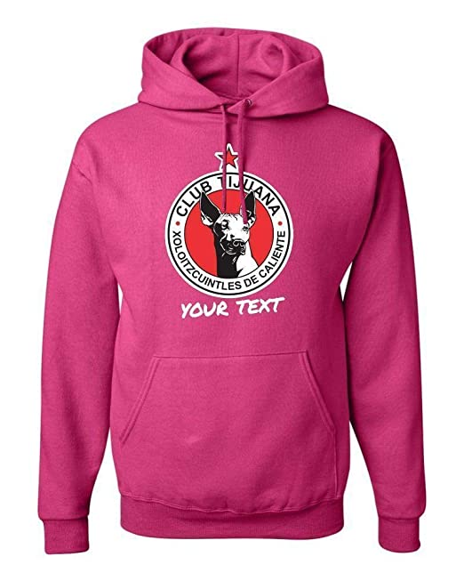 Amazon.com: Tijuana Xolos Mexico Hooded Hoodie Hoody Sudadera with Free Custom Text(Optional): Clothing