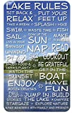 Lake Rules Sign: 18×30-inch Funny Decorative Wood Plaque with Lake and Clouds Background Review