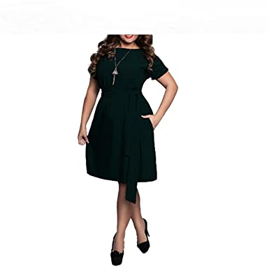 4f769b2e4e2 Image Unavailable. Image not available for. Color  Baqijian 5XL 6XL Large Size  Summer Dress Big ...