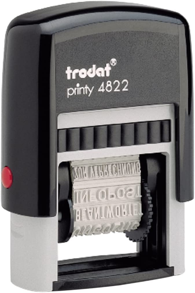 Trodat Printy Economy 12 Message Multi-Word Band Stamp, 4mm Print (4822)
