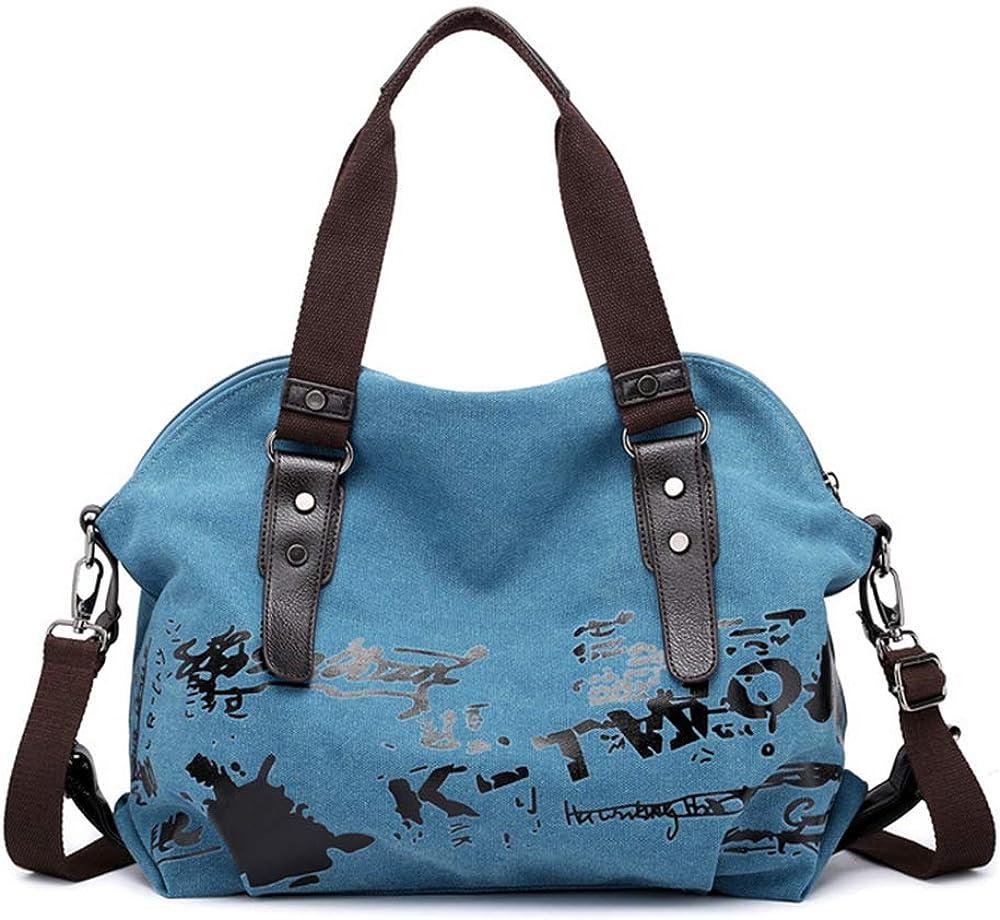Women Shoulder bags Vintage Hobo Canvas Handbag Top Handle Tote Crossbody Purses