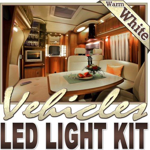 Biltek 6' ft Warm White Boat Interior Night Light LED Lighting Strip + Dimmer + Remote + Wall Plug 110V - Motorhome Boat Cabin Yacht Lighting, Compartment Lighting, Interior Waterproof DIY 110V-220V