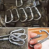 Carabine 6 Pieces/Lot Travel Kit Camping Equipment Alloy Aluminum Survival Gear Camp Mountaineering Hook EDC Carabiner