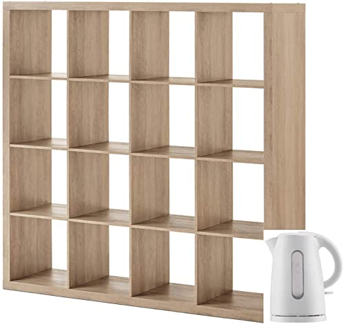 Better Homes Gardens Home Office Furniture Cube Storage Organizer Bookcase and Electric Kettle Bundle - the best modern bookcase for the money