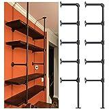 Industrial Retro Wall Mount Iron Pipe Shelf,DIY Open Bookshelf,Hung Bracket,Home Improvement Kitchen Shelves,Tool Utility She