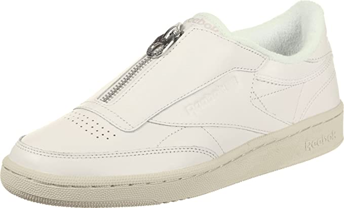 58788548db98b Image Unavailable. Image not available for. Color  Reebok Club C 85 Zip  Womens Sneakers White