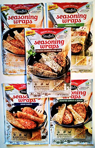 Stouffers Seasoning Wraps ULTIMATE Variety Pack, All 5 Available Flavors + FREE Bonus Cooking Timer!