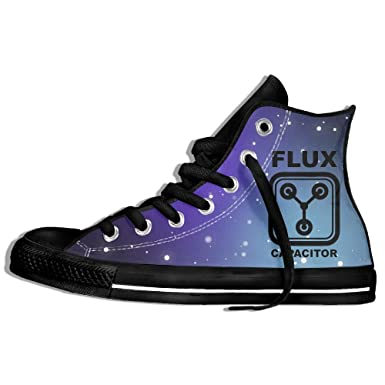 Amazon.com  Flux Capacitor Back To The Future High Top Classic Casual  Canvas Fashion Shoes Sneakers For Women   Men  Clothing 87df63ad06