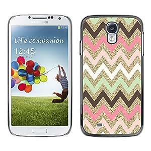Paccase / SLIM PC / Aliminium Casa Carcasa Funda Case Cover para - Indian Pattern Native Pink - Samsung Galaxy S4 I9500