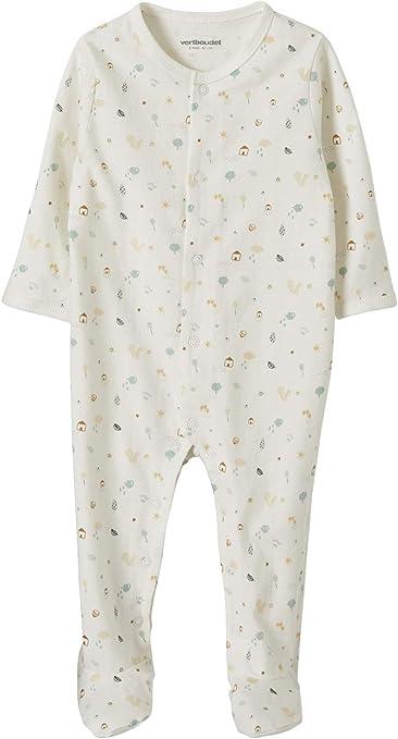 VERTBAUDET Lote de 2 pijamas para bebé Ardillas, de algodón orgánico BLANCO MEDIO BICOLOR/MULTICOLO PREMATURO - 45CM: Amazon.es: Bebé