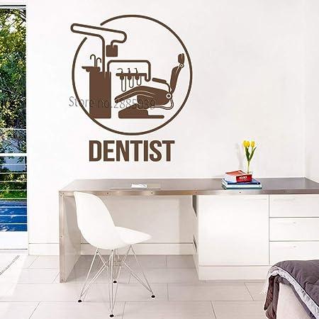 Modeganqingg Clinique Chaise Affiche Dentiste Logo Stickers