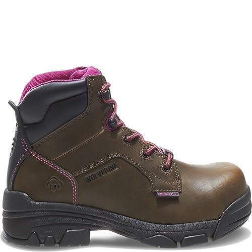 8f6b24a0978 Wolverine Women's Merlin 6 Inch Waterproof Comp Toe Work Boot