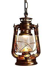 Vintage Edison Barn Lantern Iron Kerosene Lamp Oil Light Retro Lantern Restaurant Bamboo Art Creative Decorative Wall Lamp Antique Oil Lamp Loft Glass Chandelier Shade Hanging Ceiling Light E27 Ceiling Lights Pendant Lighting