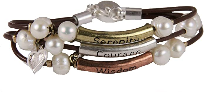 4030747 Serenity Prayer Wrap Style Bracelet AA One Day at A Time God Grant Me The Serenity