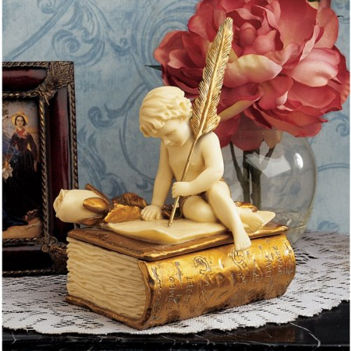 Classic Baby Cherub Angel Sculpture Treasure Jewelry ()