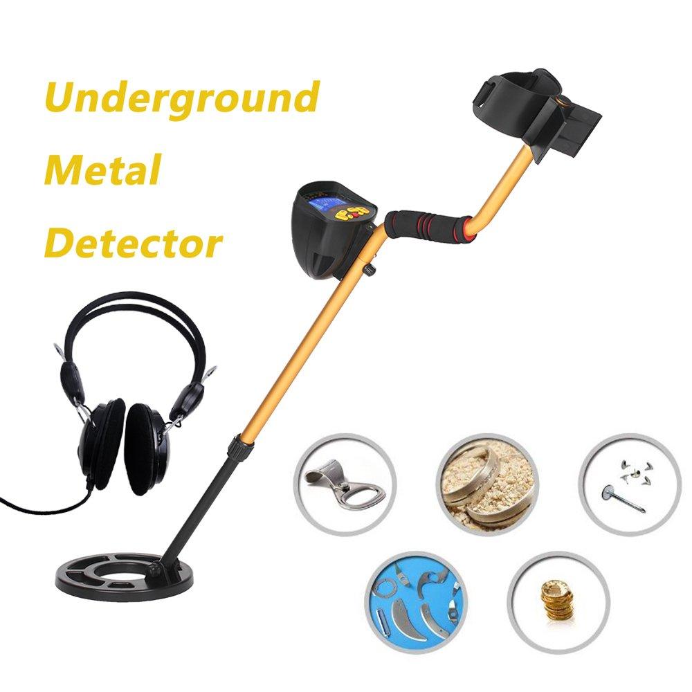 KKmoon Alta sensibilidad Detector de metales alto rendimiento MD3010II metal detector de metales subterráneo Gold Digger Treasure Hunter Buscador de tesoros ...