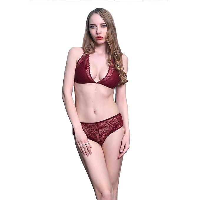 2123bfad8c OEM - Conjunto de lencería - para Mujer Rojo Rosso Small  Amazon.es  Ropa y  accesorios