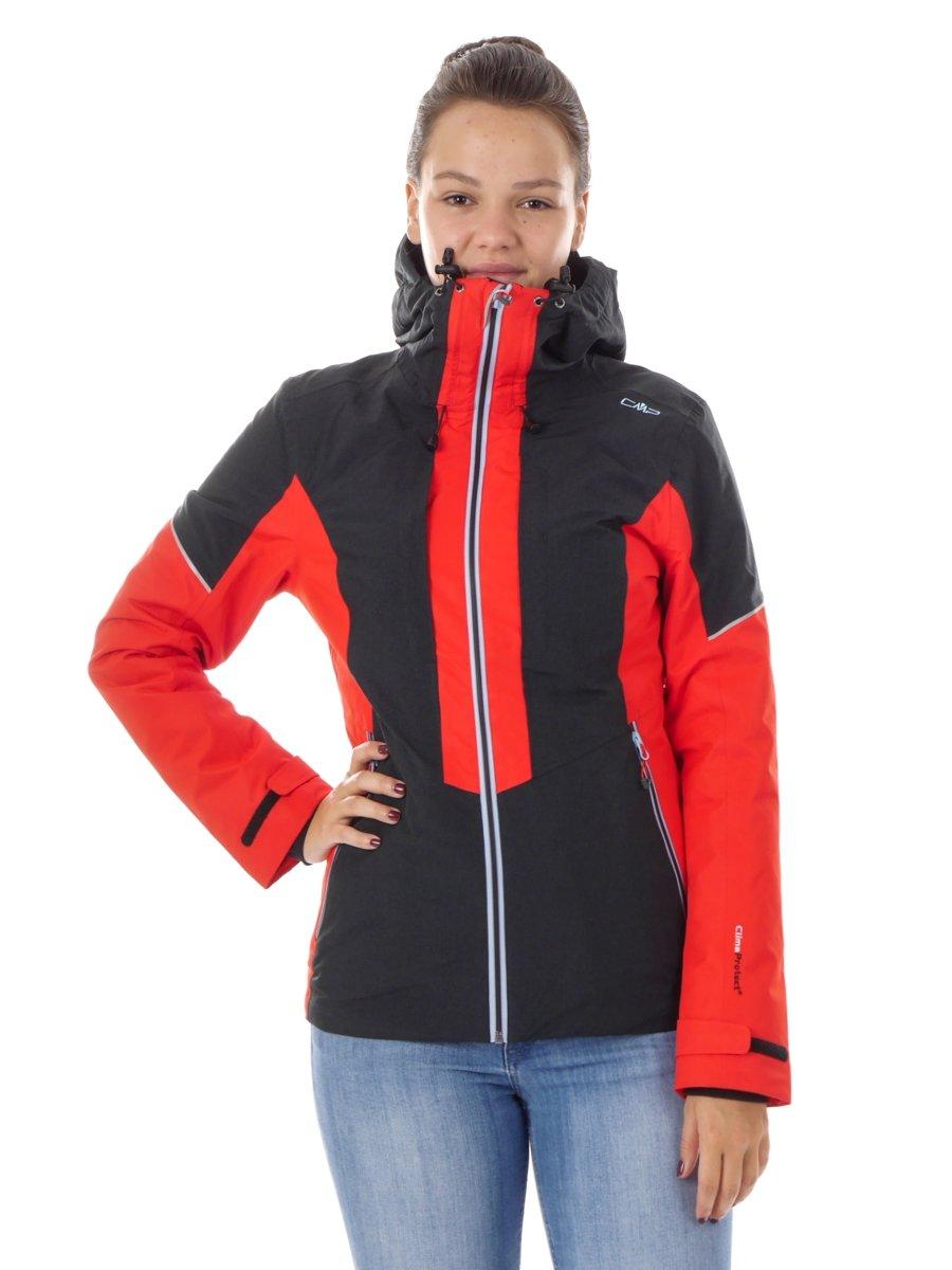 CMP Outdoorjacke Funktionsjacke Hoodie-Jacket ROT WARM CLIMAPROTECT® 3Z17576 Gr.38